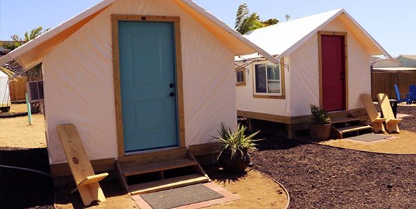 Each tent bungalow and yurt have two chairs and a sitting area in front of each. & About Our Camp | Camp Coyoacan